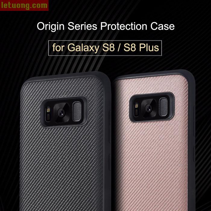 Ốp lưng Galaxy S8 Rock Origin Carbon độc đáo, sang trọng, chống sốc