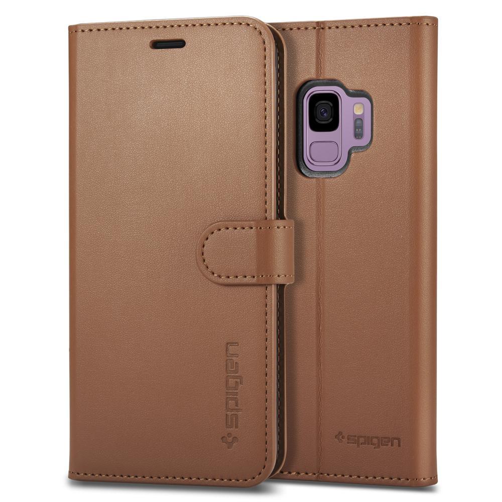 Bao da Galaxy S9 Spigen Wallet S đa năng từ USA tặng dán lưng Carbon