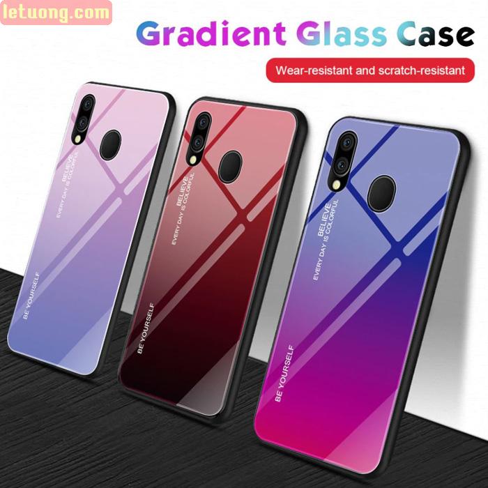 Ốp lưng Galaxy A20 Mocolo Beyoursefl Glass Case Gradient đổi màu cực đẹp