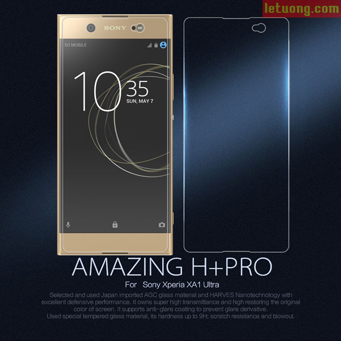 Kính cường lực Sony XA1 Ultra Nillkin Amazing H+ Pro 0,2mm độ cứng 9H