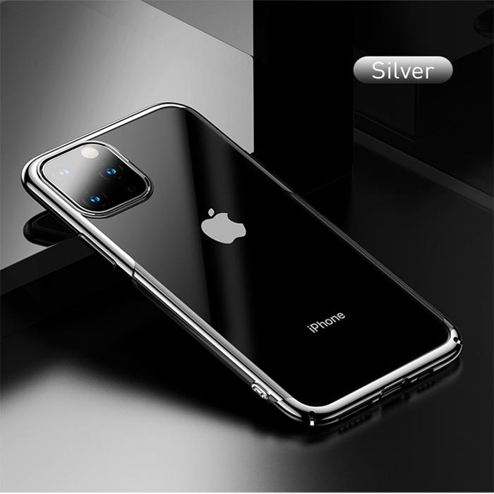 Ốp lưng iPhone 11 Pro Baseus Glitter trong suốt + viền mạ Crom