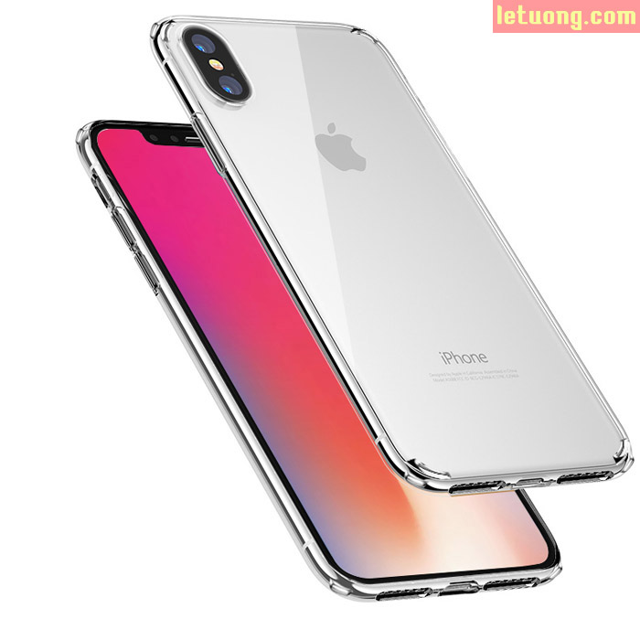 Ốp lưng iPhone X / iPhone Xs Rock Crystal Clear trong suốt viền mềm