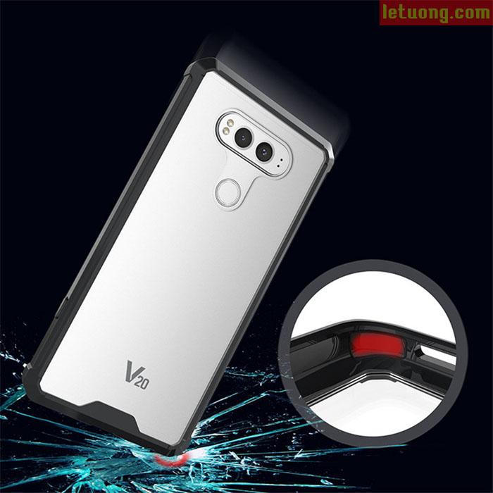 Ốp lưng LG V20 LT Ultra Hybrid trong suốt viền mềm