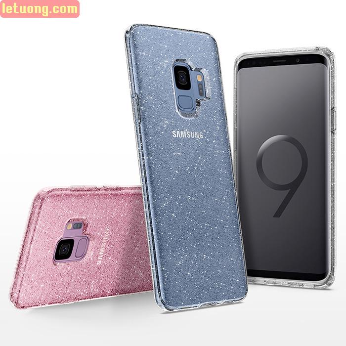 Ốp lưng Galaxy S9 Spigen Liquid Crystal Glitter kim tuyến từ Mỹ