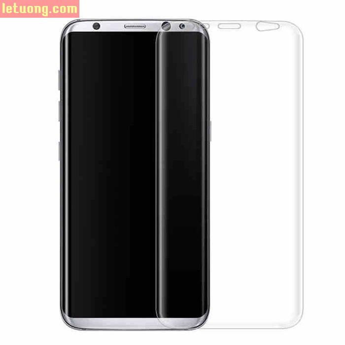 Miếng dán full màn hình Galaxy S8 Plus Vmax 3D Curved TPU trong