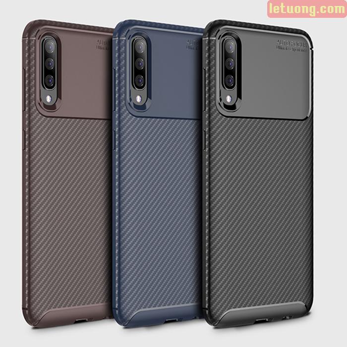 Ốp lưng Galaxy A70 LT Carbon Fiber Case chống bám vân tay