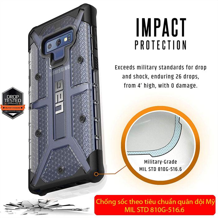 Ốp lưng Galaxy Note 9 UAG Plasma Armor trong suốt, chống sốc từ USA