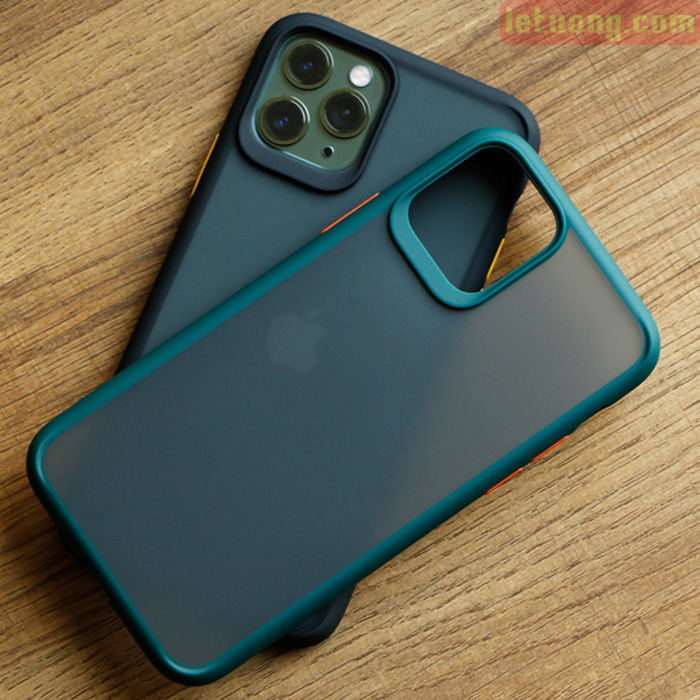 Ốp lưng iPhone 11 Pro Max Rock Guard Pro Matte lưng trong mờ