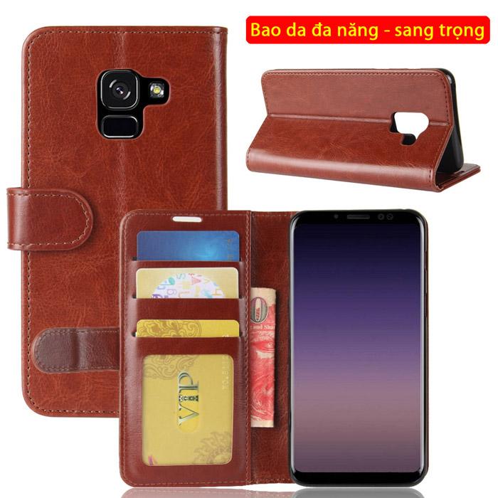 Bao da Galaxy A5 2018 LT Wallet Leather đa năng - khung mềm