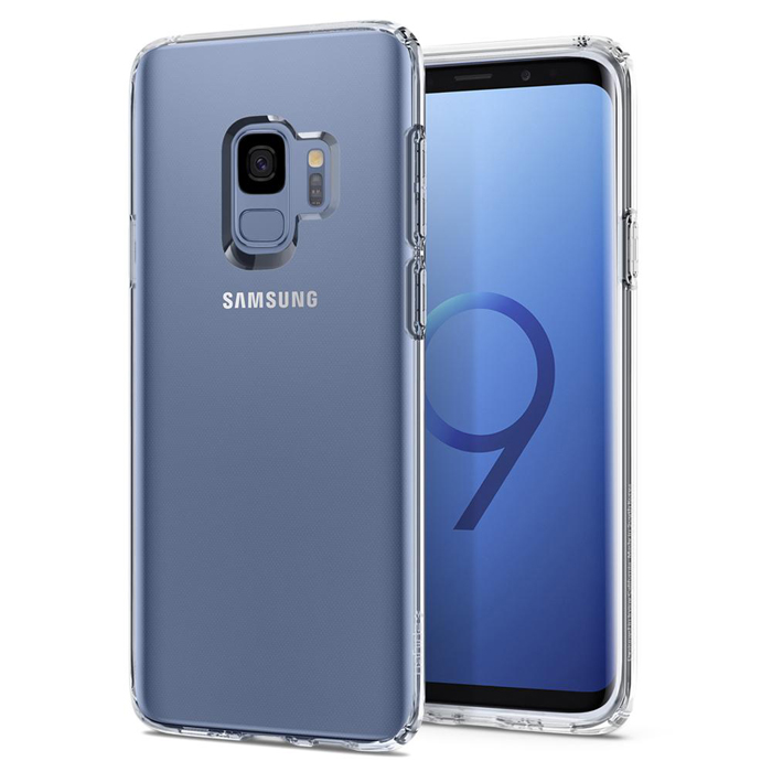 Ốp lưng Samsung Galaxy S9 Spigen Liquid Crystal trong suốt từ USA tặng dán lưng Carbon