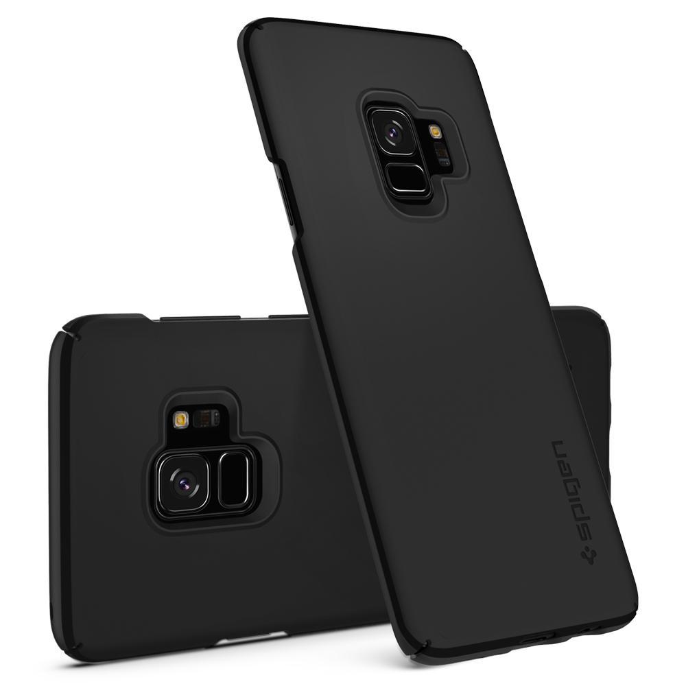 Ốp lưng Samsung Galaxy S9 Spigen Thin Fit siêu mỏng nhẹ từ USA tặng dán lưng Carbon