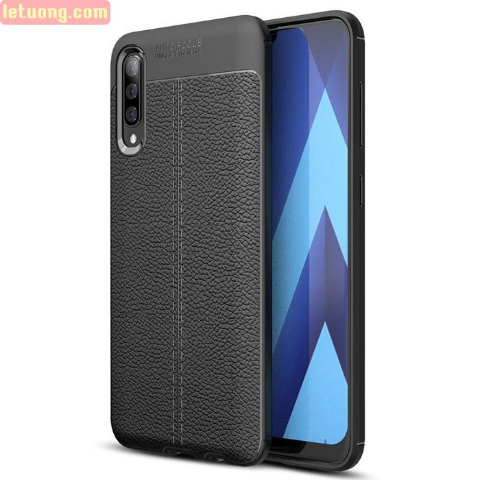Ốp lưng Galaxy A70 LT Leather Design Case vân da sang trọng
