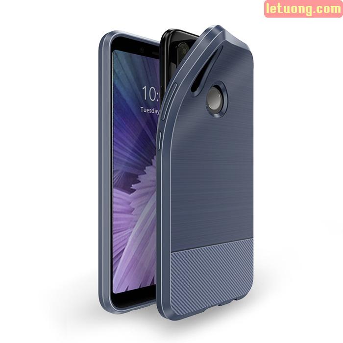 Ốp lưng Redmi Note 5 / Note 5 Pro Dux Ducis Mojo Carbon Fiber nhựa mềm