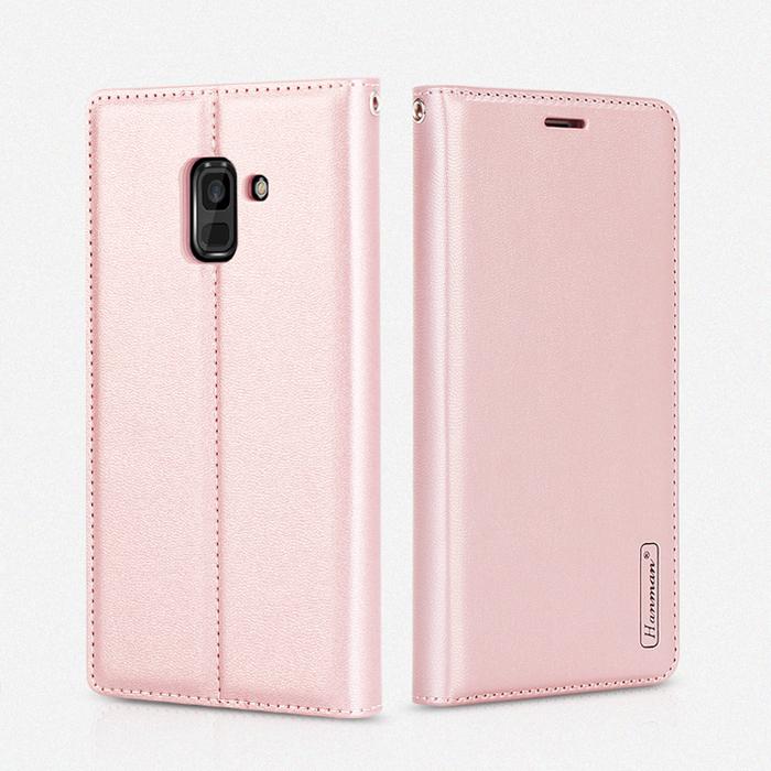 Bao da Galaxy A6 2018 Hanman Canvas Diary đa năng + dây đeo