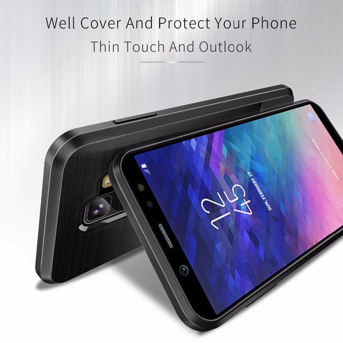 Ốp lưng Galaxy A6 Plus 2018 Dux Ducis Mojo Carbon Fiber nhựa mềm
