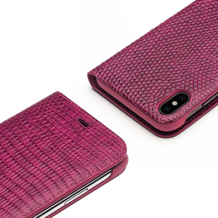 Bao da iPhone Xs Max Qialino Crocodile Hanmade da thật