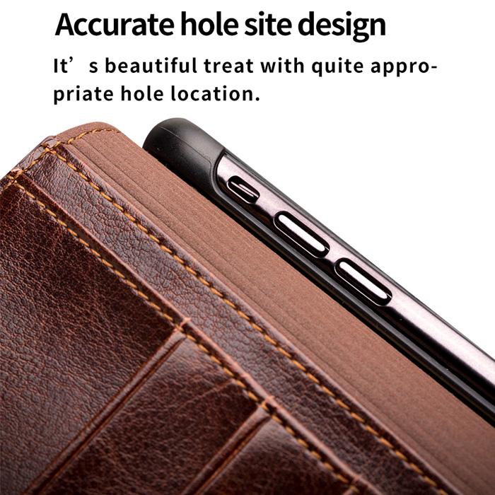 Bao da iPhone Xs Max Qialino Classic Leather Hanmade da thật