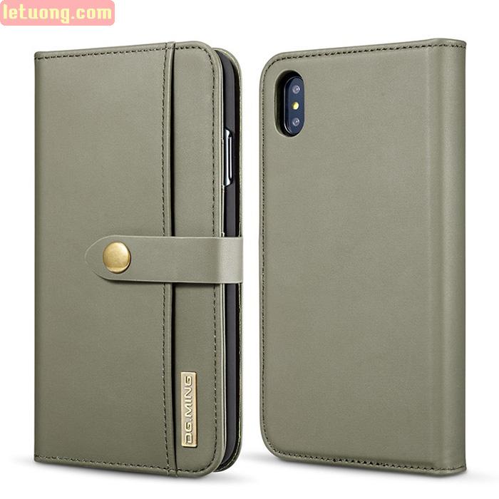 Bao da iPhone Xs Max DG.ming Genuine Leather 2 trong 1 cực đẹp
