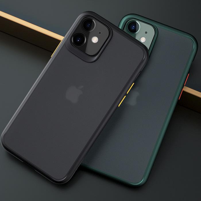 Ốp lưng iPhone 11 Rock Guard Pro Matte lưng trong mờ
