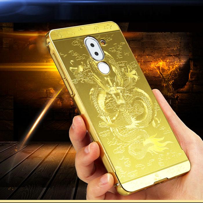 Ốp lưng Huawei GR5 2017 LT Metal In Rồng 3D sang trọng