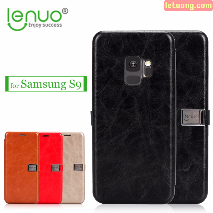 Bao da Samsung Galaxy S9 Lenuo Lebe Flip Case tuyệt đẹp - sang trọng