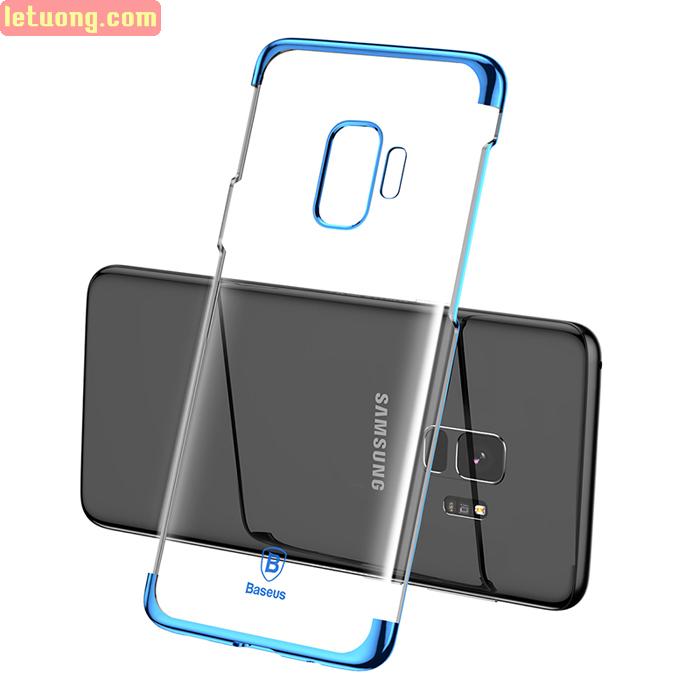 Ốp lưng Galaxy S9 Baseus Glitter trong suốt viền crom tuyệt đẹp