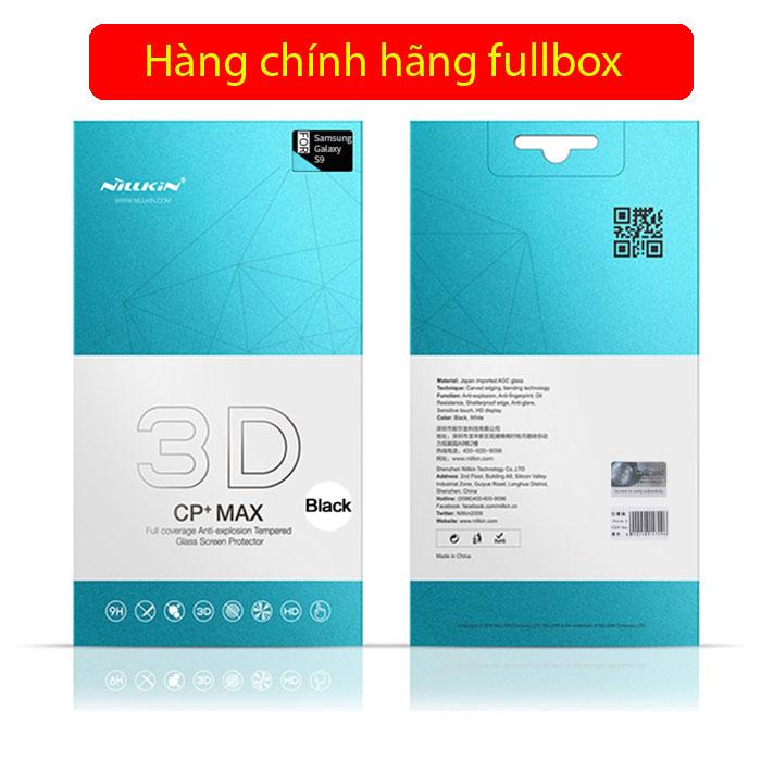 Kính cường lực Galaxy S9 Nillkin 3D CP+ Max full toàn màn hình tặng dán lưng Carbon