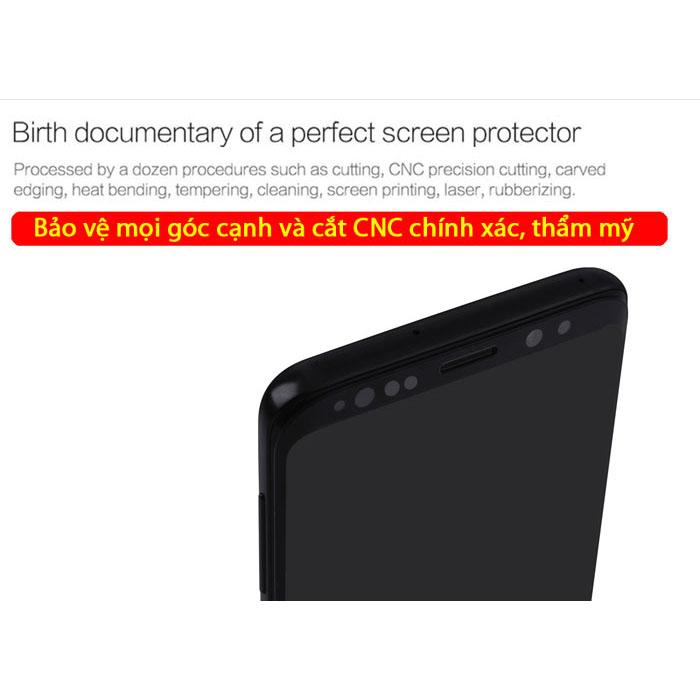 Kính cường lực Galaxy S9 Plus Nillkin 3D CP+ Max full toàn màn hình tặng dán lưng Carbon