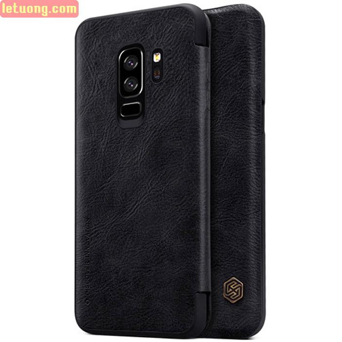 Bao da Galaxy S9 Plus Nillkin Qin Leather - tặng dán lưng Carbon