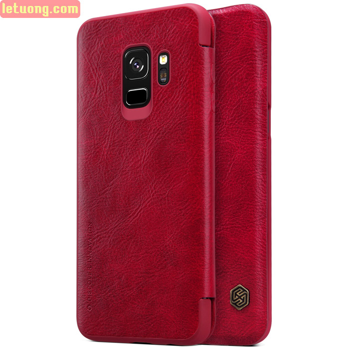 Bao da Samsung Galaxy S9 Nillkin Qin Leather - tặng dán lưng Carbon