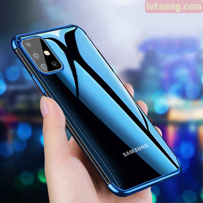 Ốp lưng Galaxy A51 LT Plating Case trong suốt viền mạ Crom sáng bóng