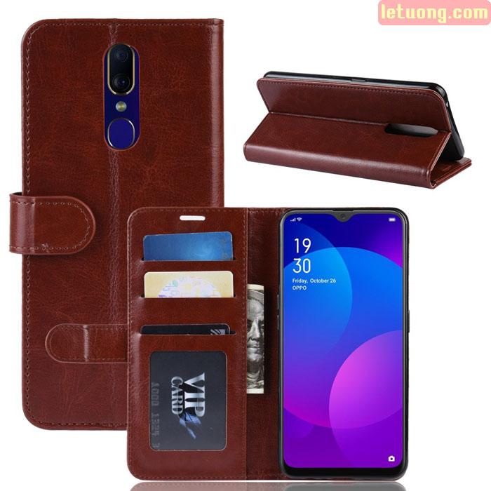 Bao da OppO F11 LT Wallet Leather dạng ví đa năng - khung mềm