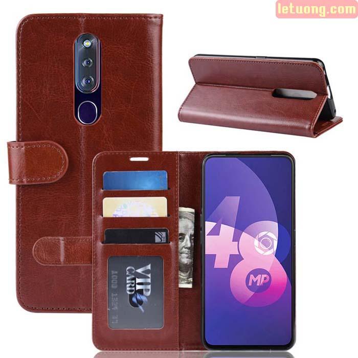 Bao da Oppo F11 Pro LT Wallet Leather dạng ví đa năng - khung mềm