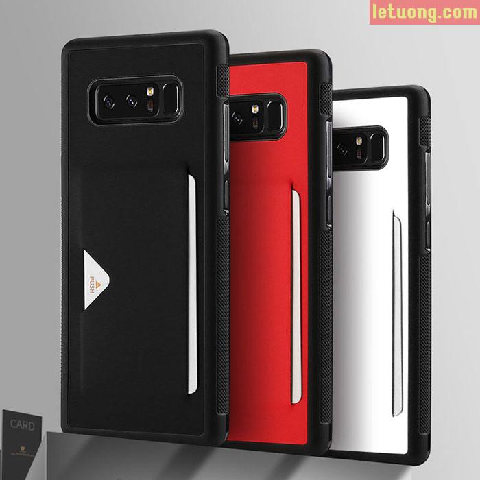 Ốp lưng Samsung Galaxy Note 8 Dux Ducis Pocard lưng da tuyệt đẹp
