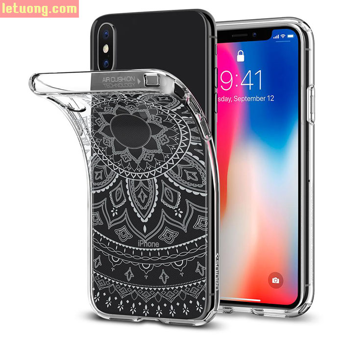 Ốp lưng iPhone Xs / X Spigen Liquid Crystal Shine ( Hàng USA )