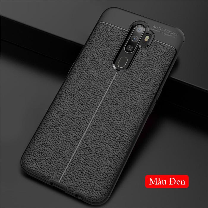 Ốp lưng Oppo A9 2020 LT Leather Design Case vân da - sang trọng