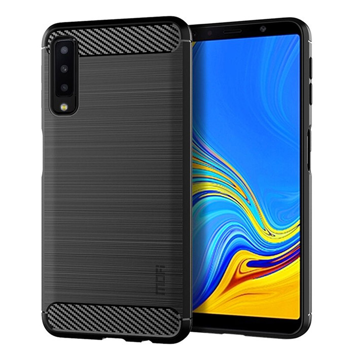 Ốp lưng Galaxy A7 2018 Mofi Shen Du Carbon nhựa mềm - chống vân tay