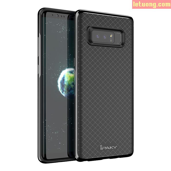 Ốp lưng Galaxy Note 8 Ipaky Hybrid Caro viền kép bóng cực đẹp