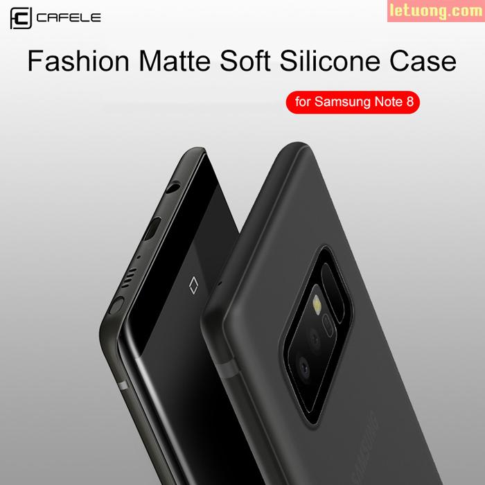 Ốp lưng Galaxy Note 8 Cafele Matte TPU nhựa dẻo siêu mỏng