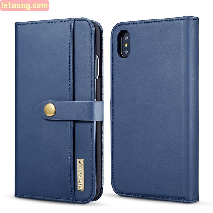 Bao da iPhone X / Xs DG.ming Genuine Leather 2 trong 1 cực đẹp