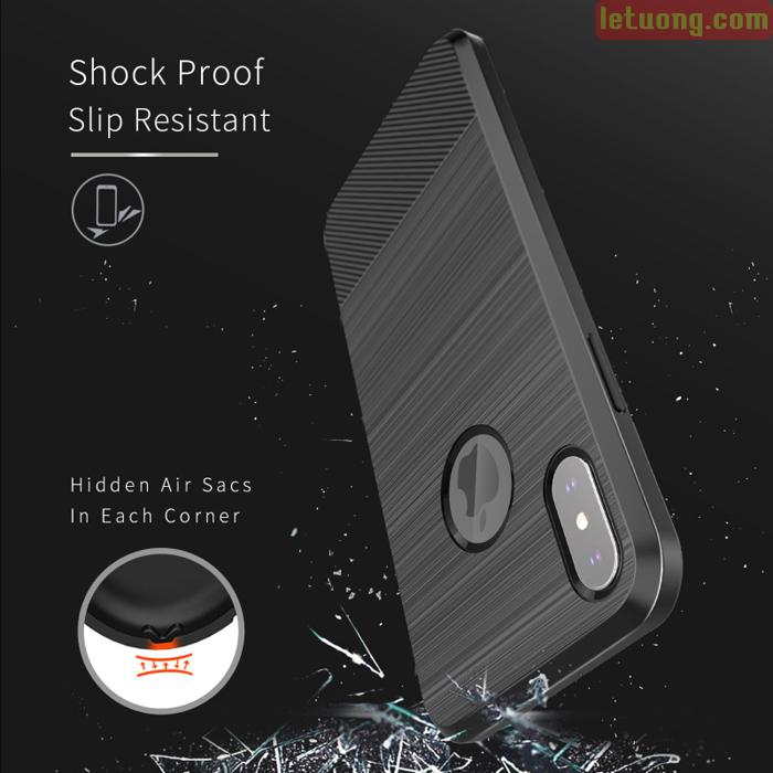 Ốp lưng iPhone X / Xs Dux Ducis Mojo Case nhựa mềm + Tặng dán lưng Carbon