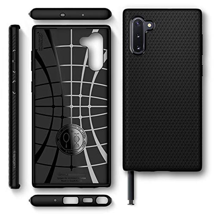 Ốp lưng Galaxy Note 10 Spigen Liquid Air chống trơn tuột ( hàng USA )