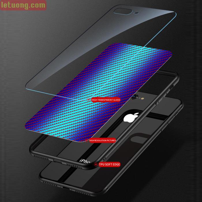 Ốp lưng Oppo A9 2020 LT Glass Carbon 3D Cực độc, Rất đẹp