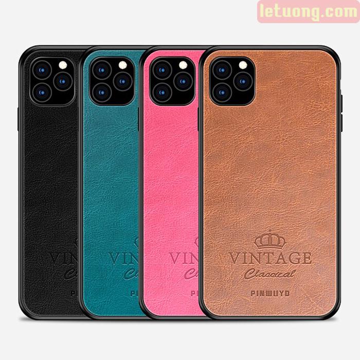 Ốp lưng iPhone 11 Pro Max Pinwuyo Vintage Leather lưng da