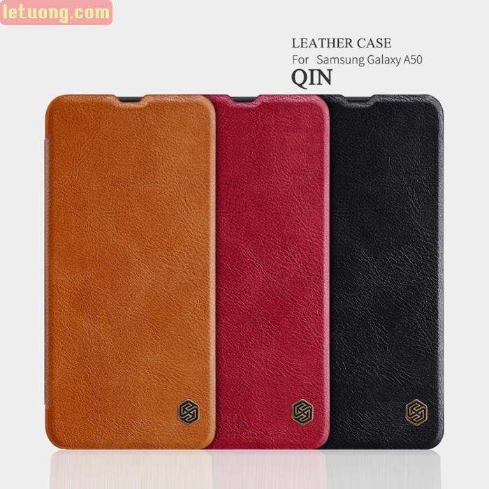Bao da Galaxy A50 / A30s Nillkin Qin Leather sang trọng - cổ điển
