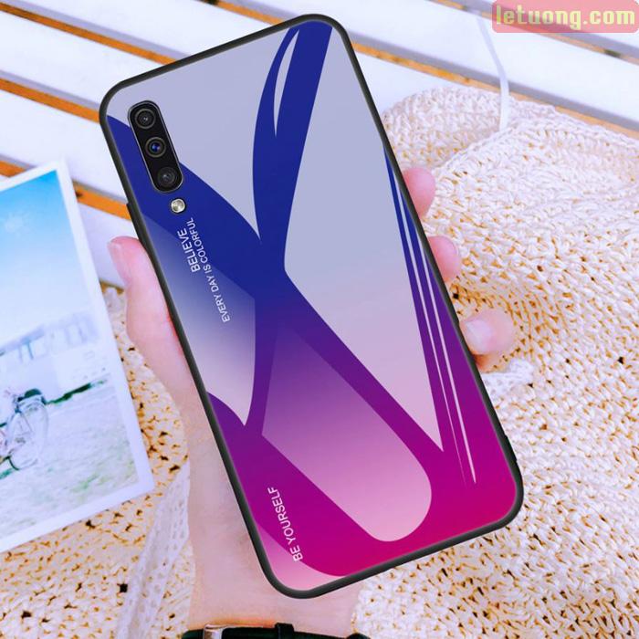 Ốp lưng Galaxy A50 / A30s Mocolo Beyoursefl Glass Case Gradient đổi màu cực đẹp