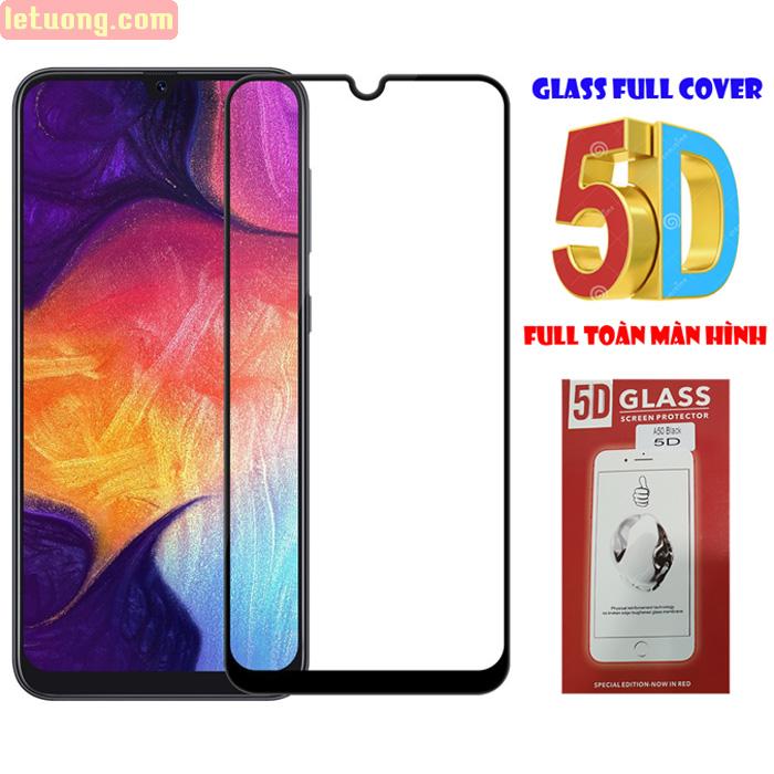 Kính cường lực Galaxy A30s / A50 Glass Full Cover 5D Cong theo màn hình