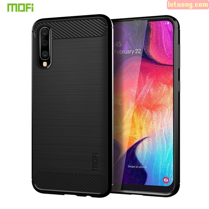 Ốp lưng Galaxy A30s / A50 Mofi Shen Du Carbon nhựa mềm - chống vân tay