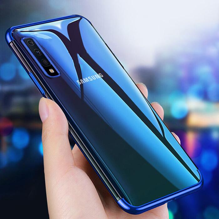 Ốp lưng Galaxy A30s / A50 LT Plating Case trong suốt viền mạ Crom sáng bóng