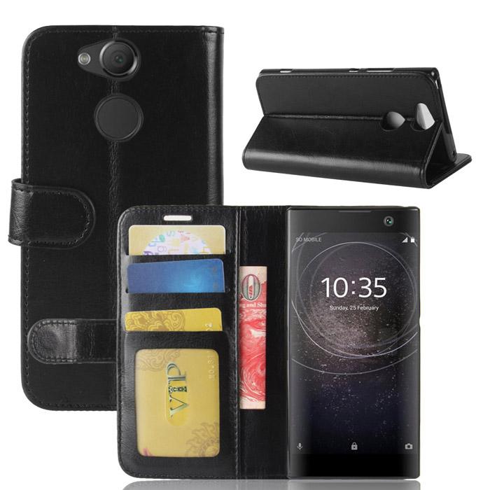Bao da Sony Xperia XA2 LT Wallet Leather dạng ví đa năng khung mềm